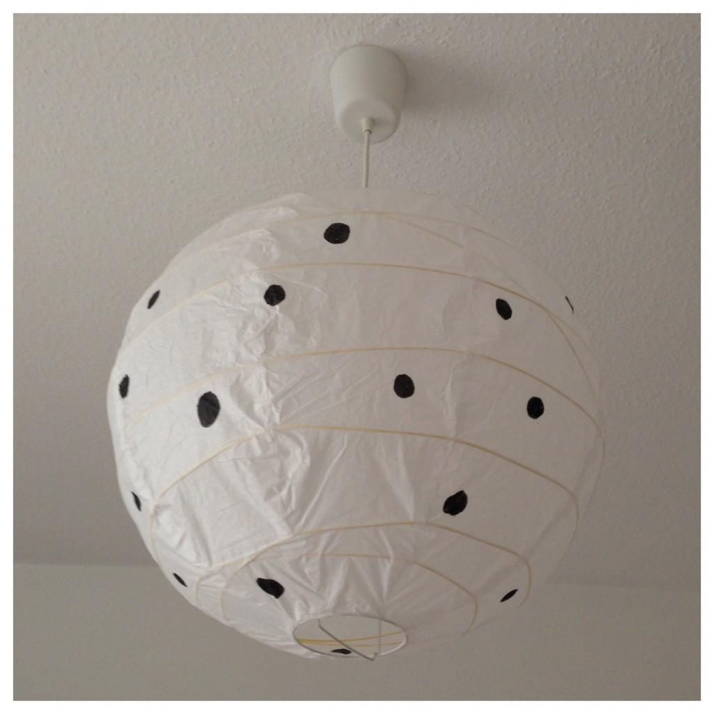 DIY Punkte Lampe sophiagaleria