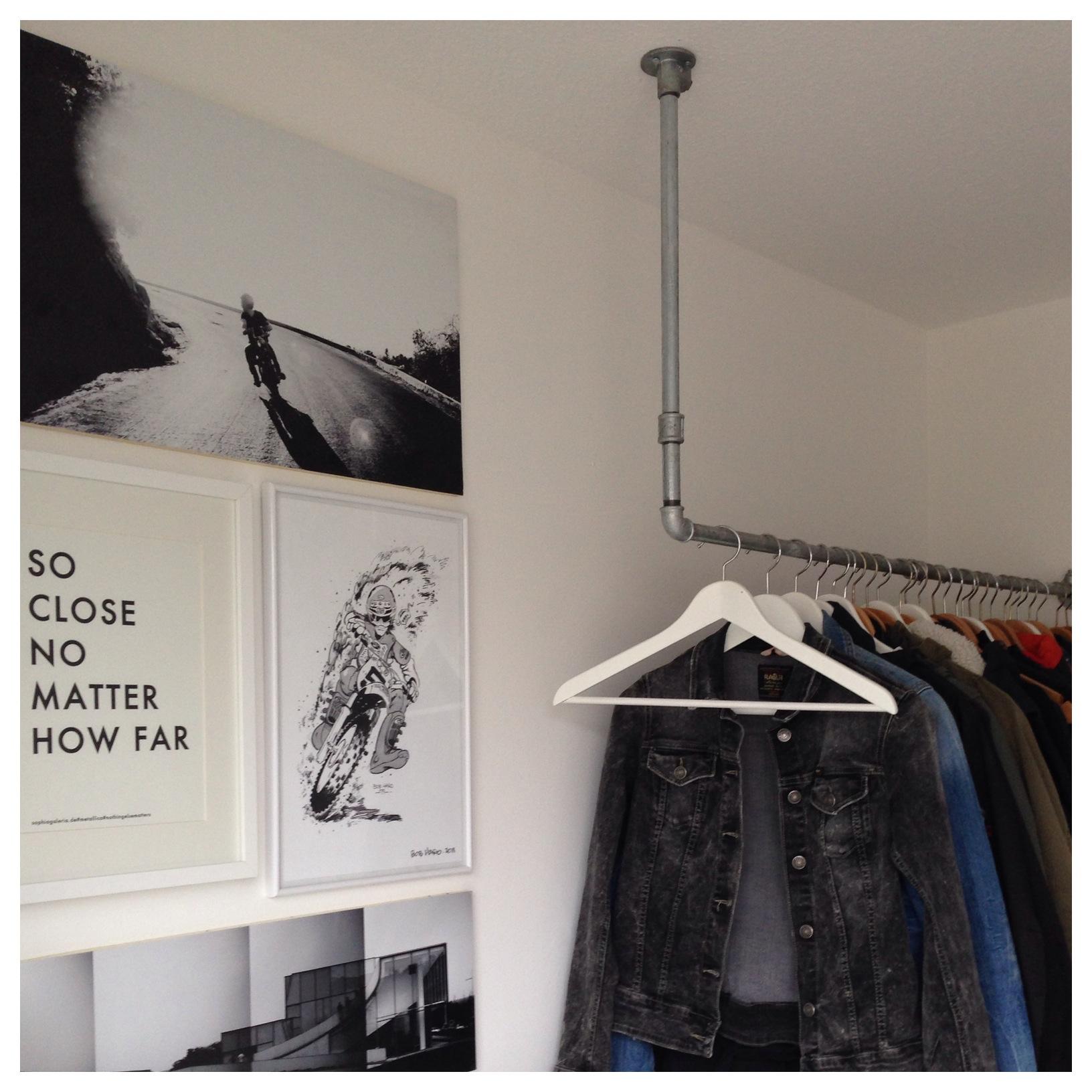 d i y do it yourself garderobe im industrial look. Black Bedroom Furniture Sets. Home Design Ideas