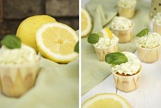 zitrone basilikum cupcake