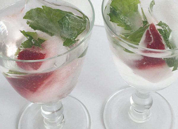 Erdbeer Minze Eiswürfel sophiagaleria