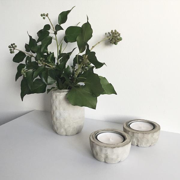 Wohnen mit Beton DIY Vasen sophiagaleria