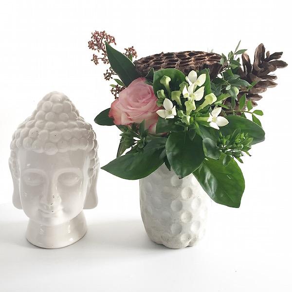 Flower Power Buddha Blumen Deko sophiagaleria