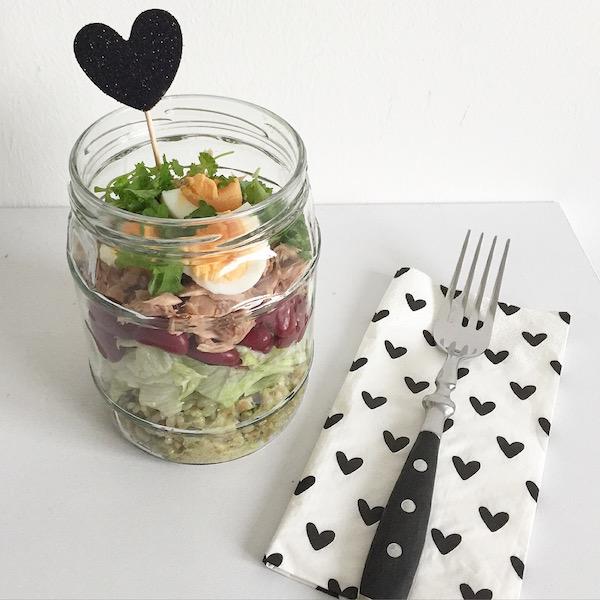 Salat im Glas sophiagaleria