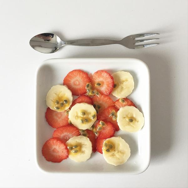 Bananen Erdbeer Carpaccio sophiagaleria