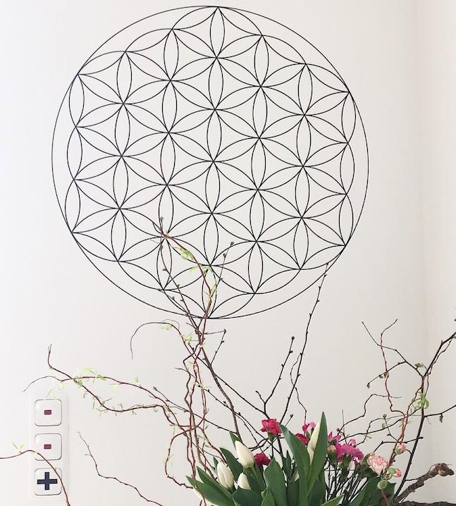 Wanddeko Blume des Lebens sophiagaleria