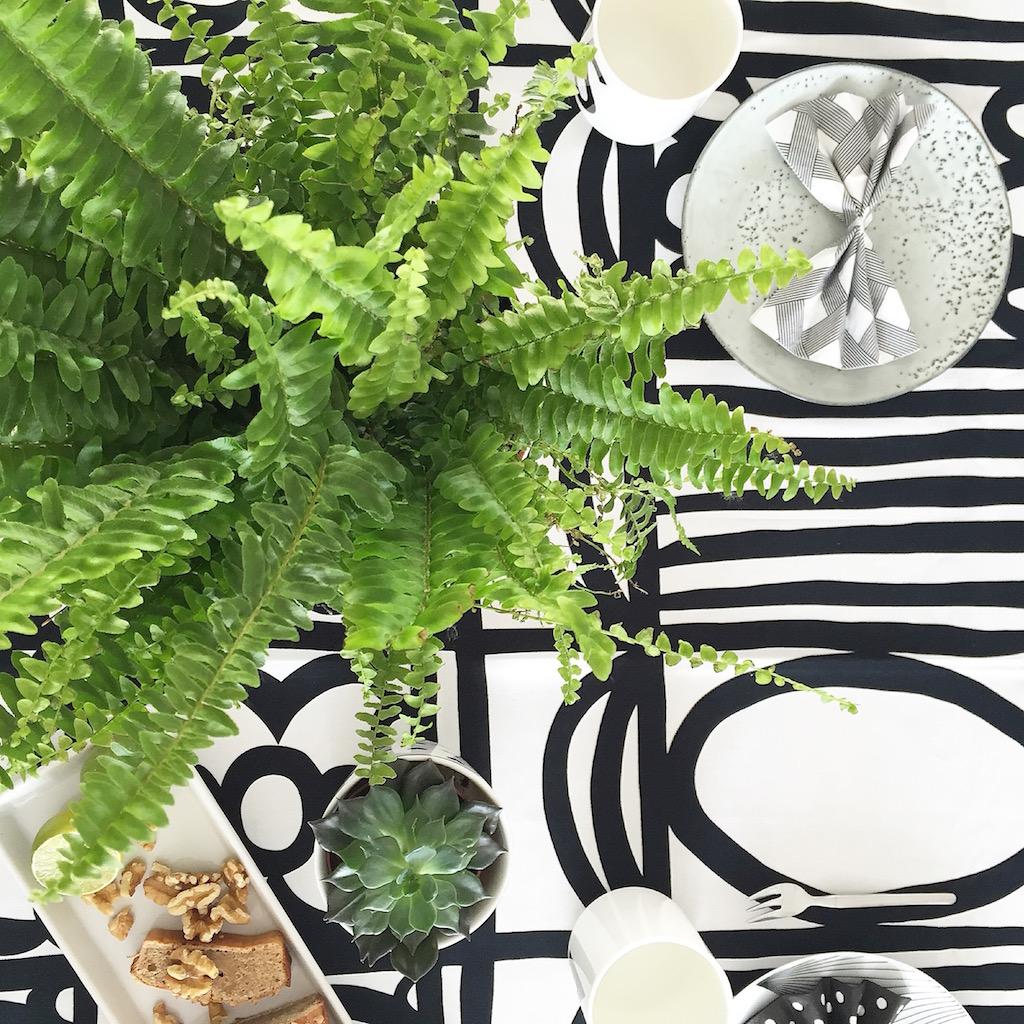 Mal sehen wie lange er hält, ich habe leider keinen grünen Daumen für Indoor Pflanzen. Aber bis jetzt sieht er noch sehr gut aus. Und deswegen darf er noch zusammen mit der kleinen Sukkulente ein bißchen als Tischdeko herhalten.