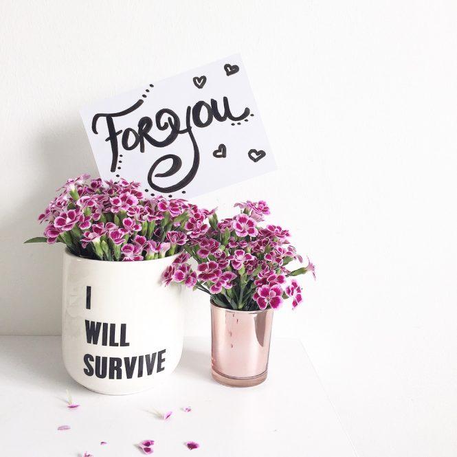 DIY Lettering Blumen Deko sophiagaleria