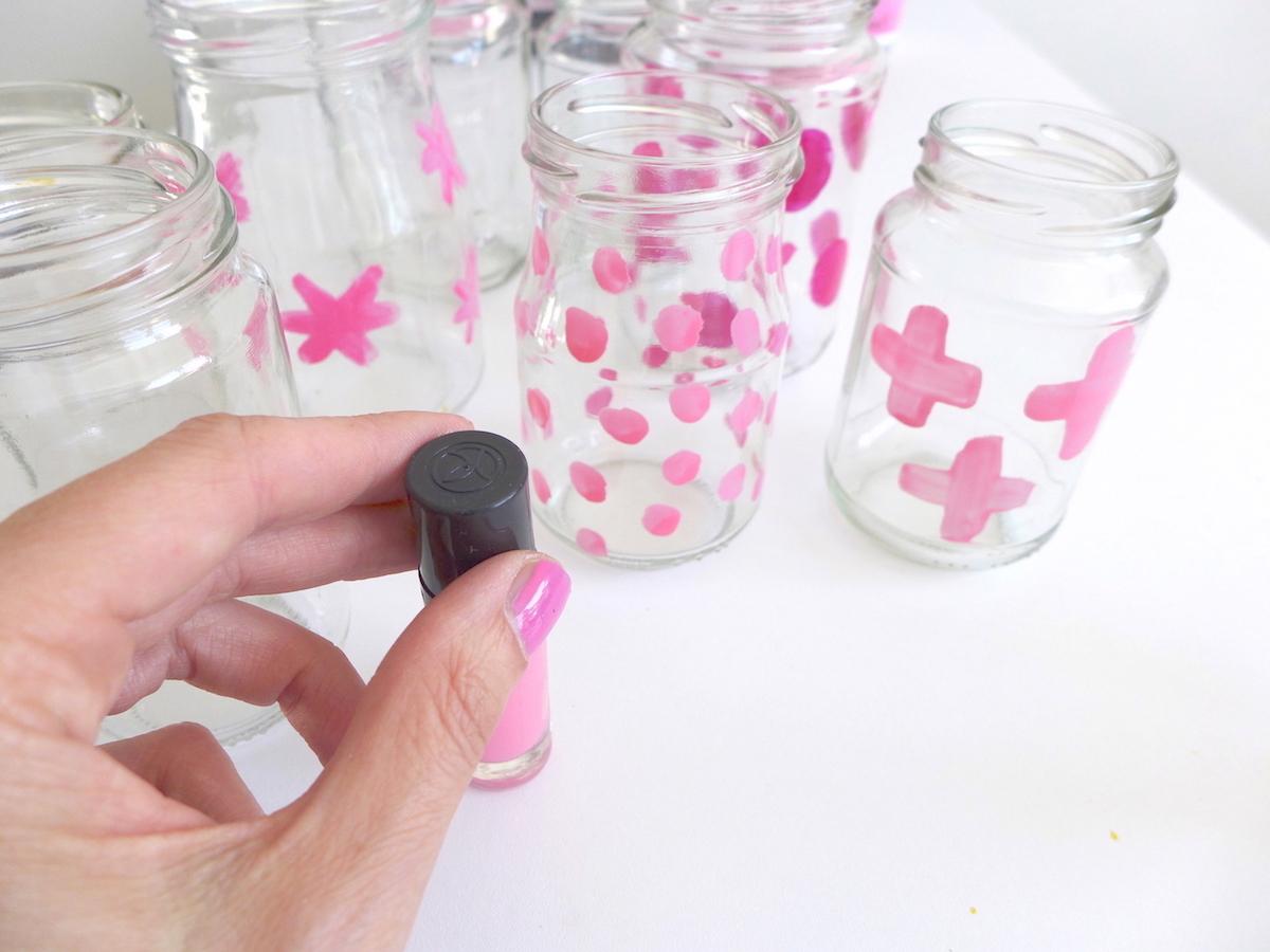 Pink Blumenvase Nagellack DIY sophiagaleria