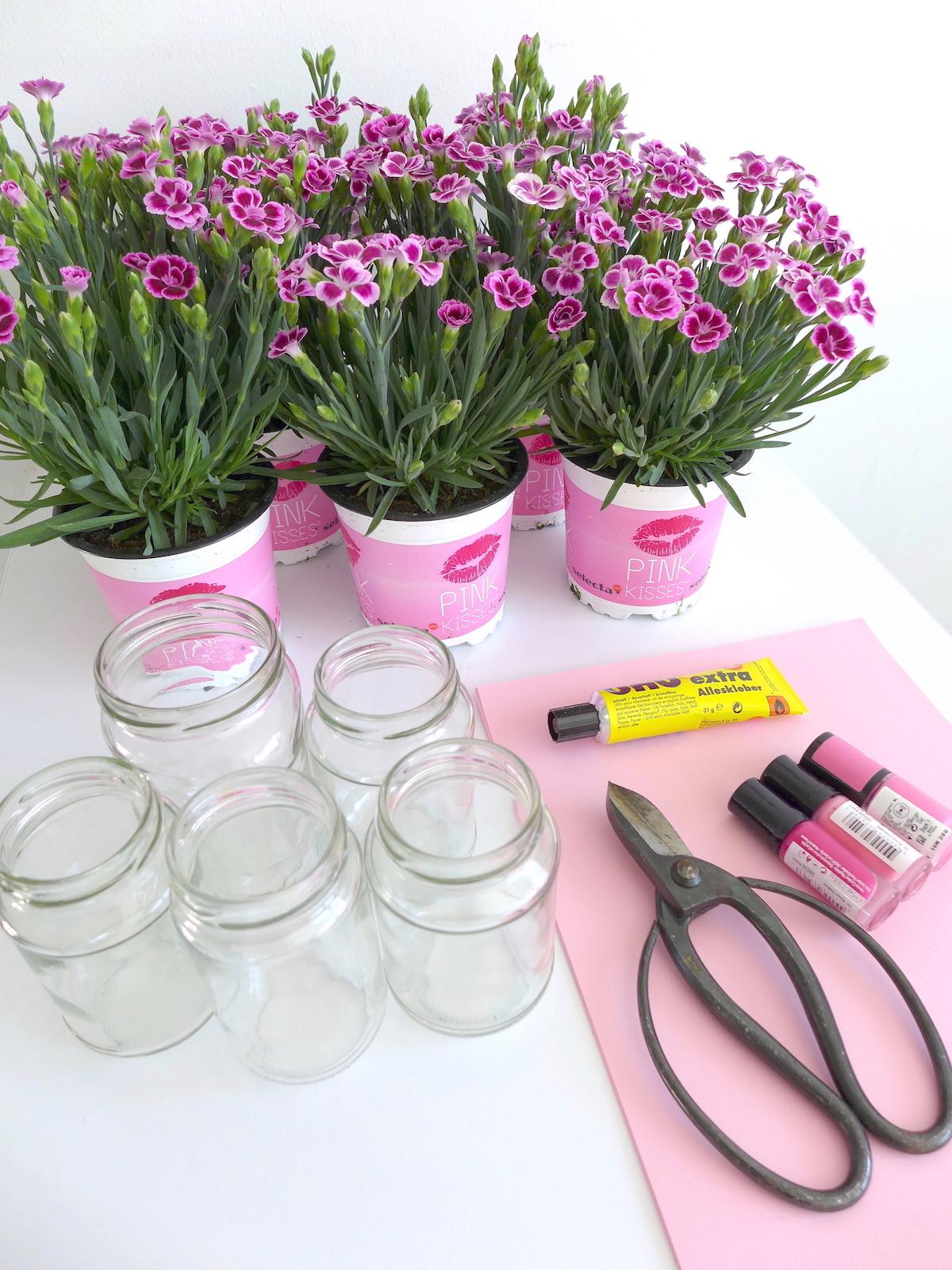 Pink Day Blumen DIY Material sophiagaleria