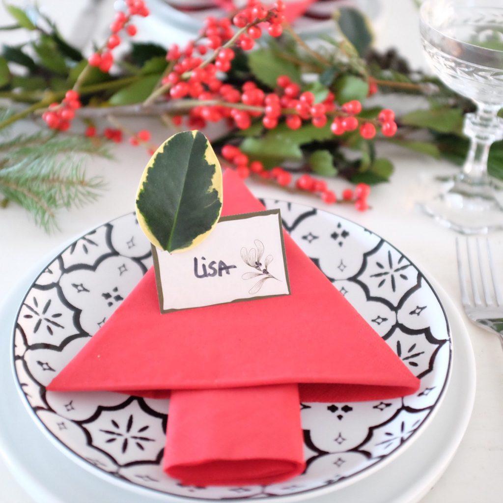 do it yourself namensschilder f r die weihnachtliche tischdeko sophiagaleria. Black Bedroom Furniture Sets. Home Design Ideas