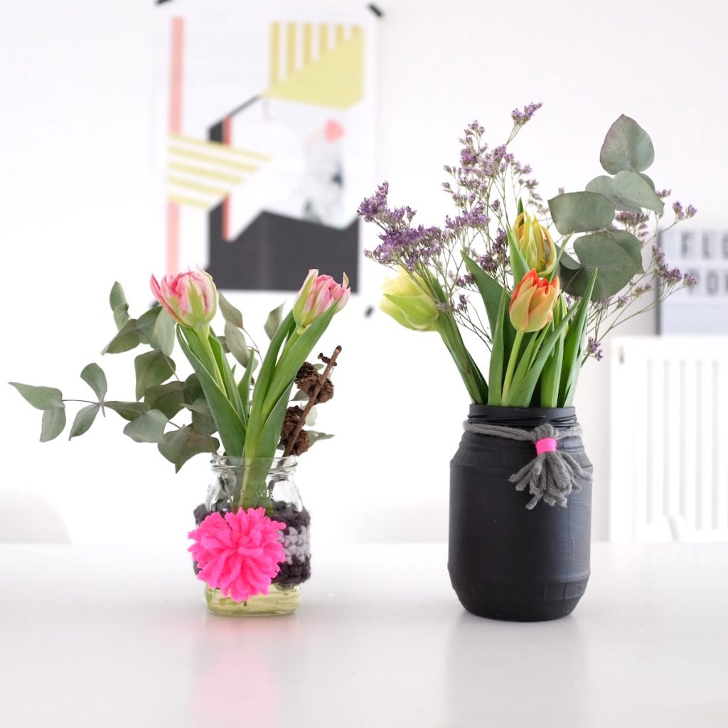 Do It Yourself Blumen Vasen Dekoration Aus Wolle Sophiagaleria