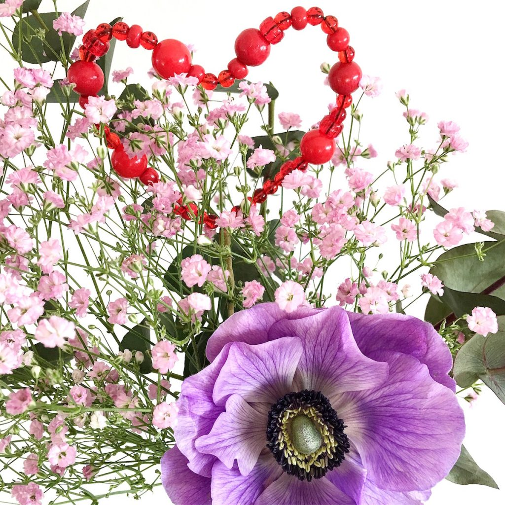 DIY Herz Flower Blumen Topper sophiagaleria