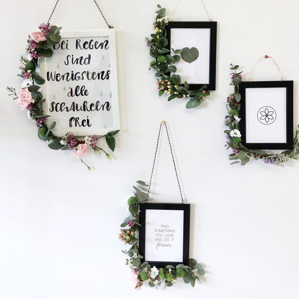 Flower Power Bloggers DIY Blumen Workshop - Florale Bilderrahmen ...