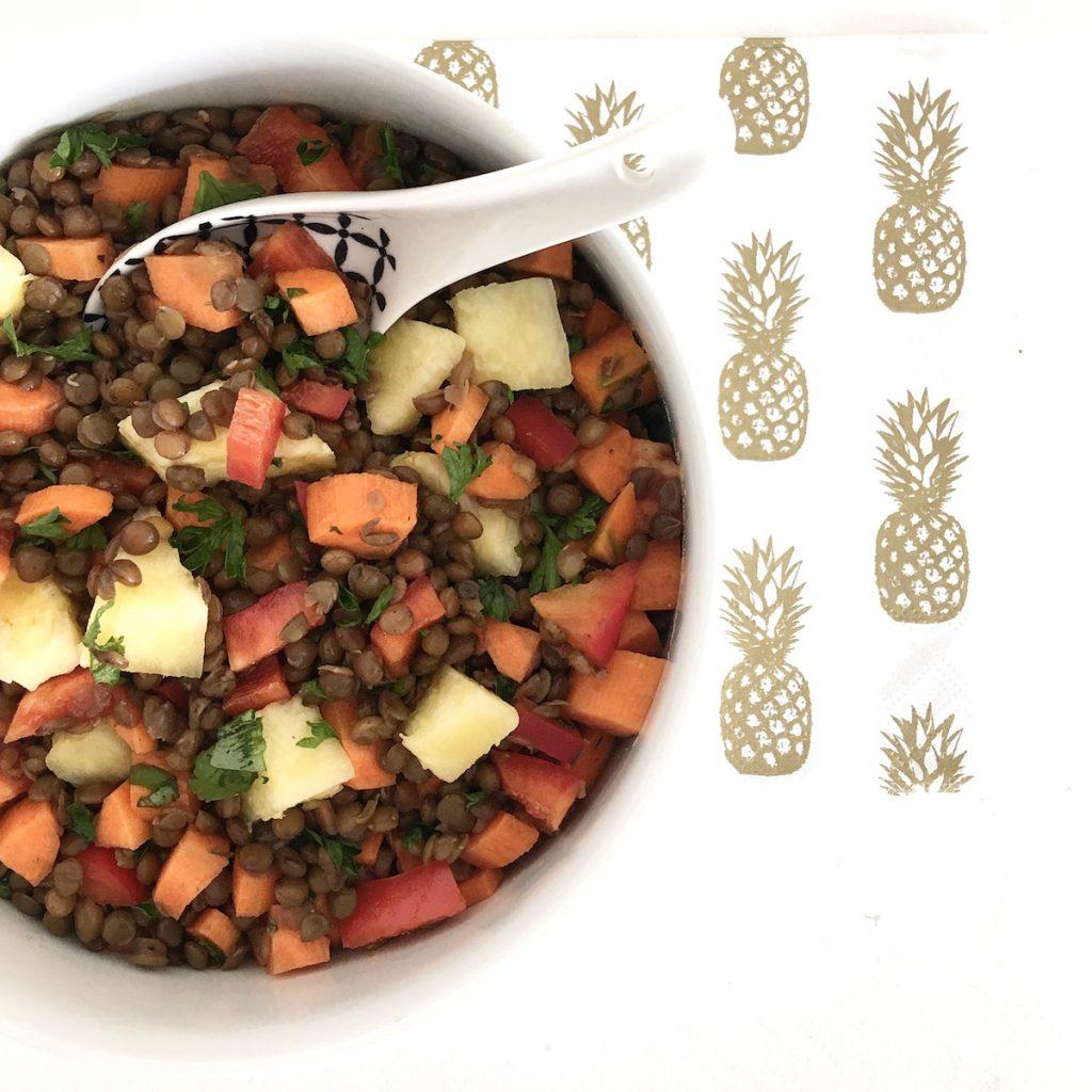 Ananas Linsen Salat sophiagaleria