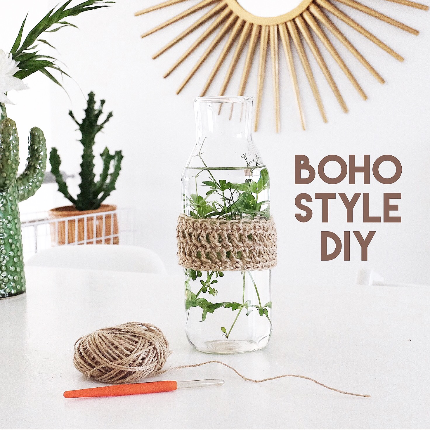 Diy boho style flaschen deko sophiagaleria for Design deko