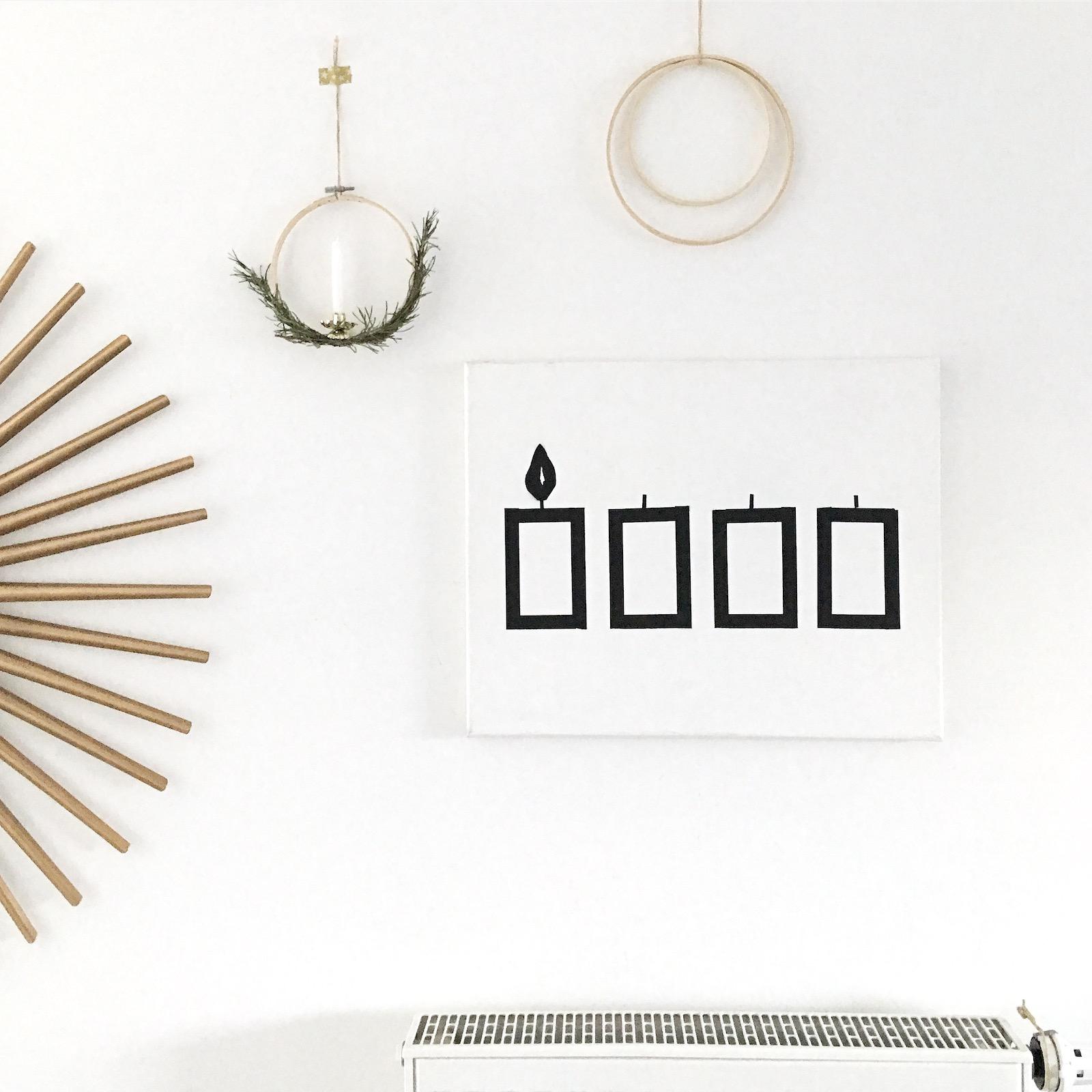 diy masking tape wand adventskerzen sophiagaleria sophiagaleria. Black Bedroom Furniture Sets. Home Design Ideas
