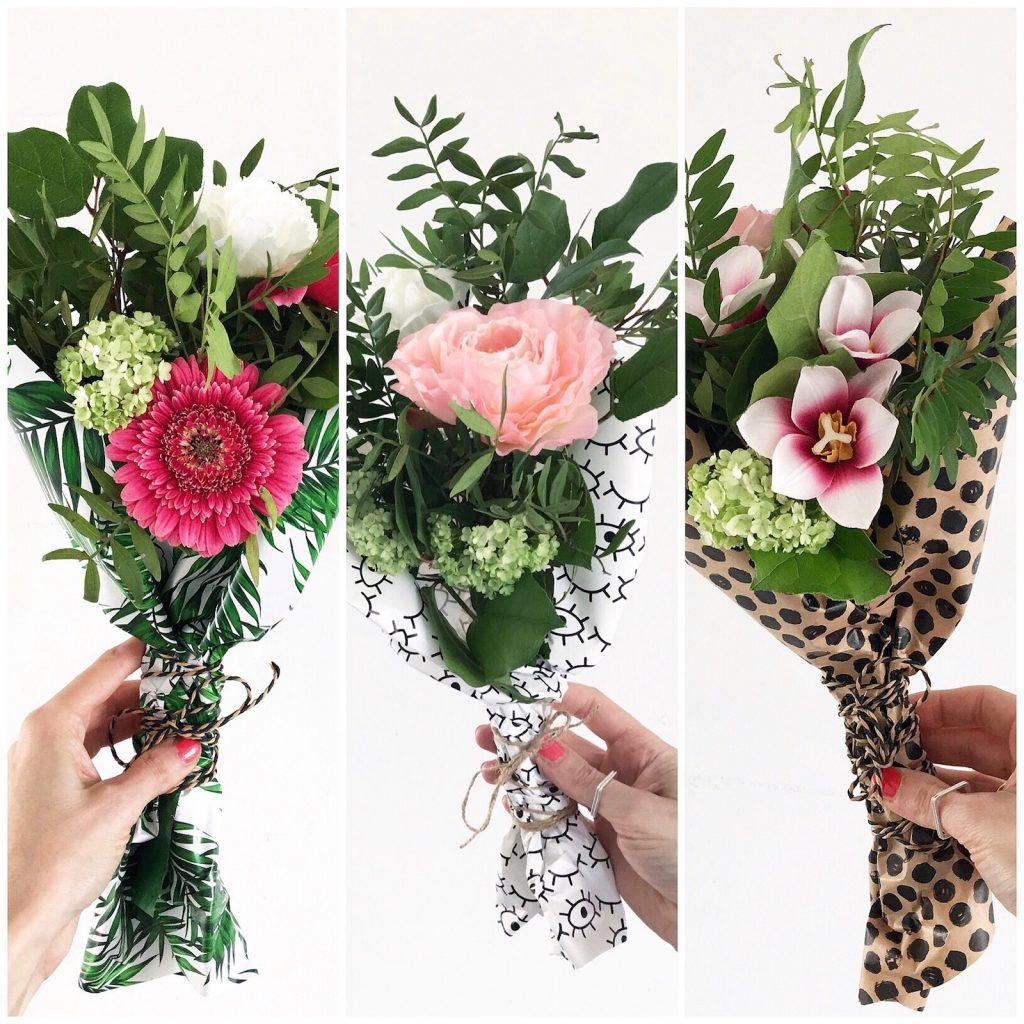 Deko Blumen 3 x blumen deko blumen einfach und schön verpacken sophiagaleria
