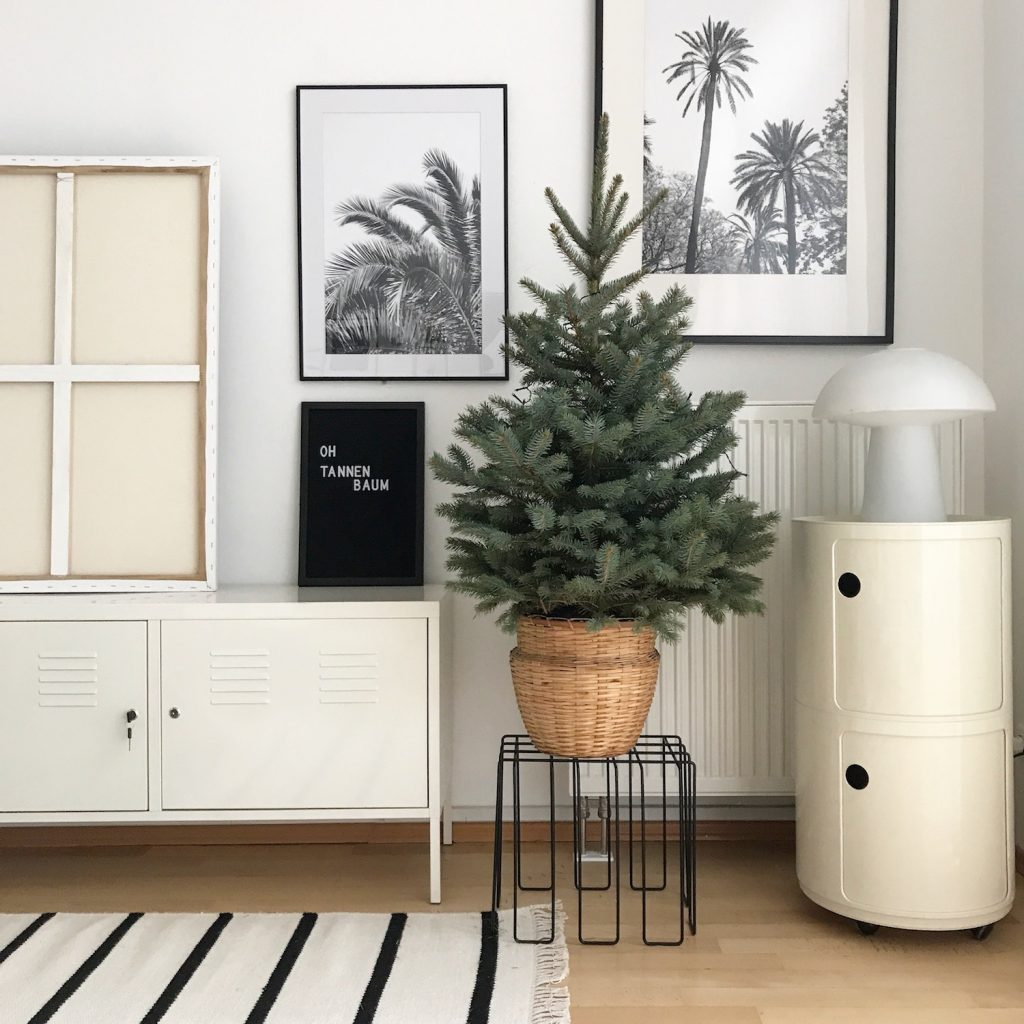 weihnachtsbaum mit frischem diy blumenschmuck sophiagaleria. Black Bedroom Furniture Sets. Home Design Ideas