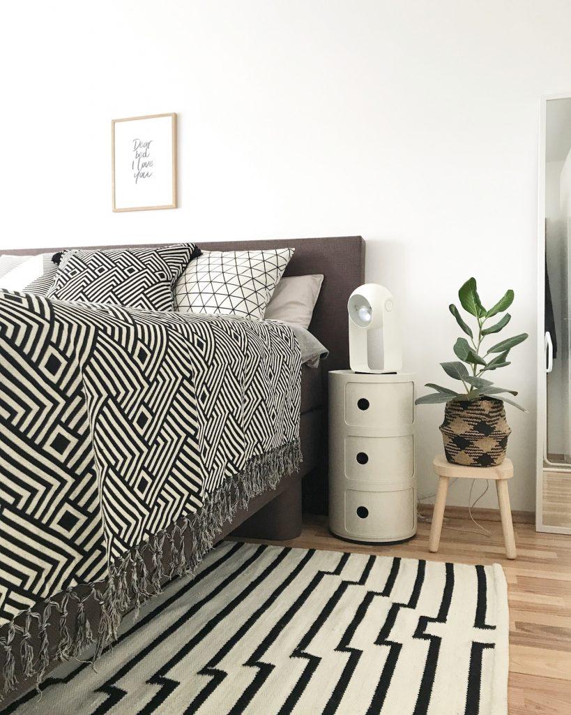 Grafische Muster im Schlafzimmer inkl. Shopvorstellung ...
