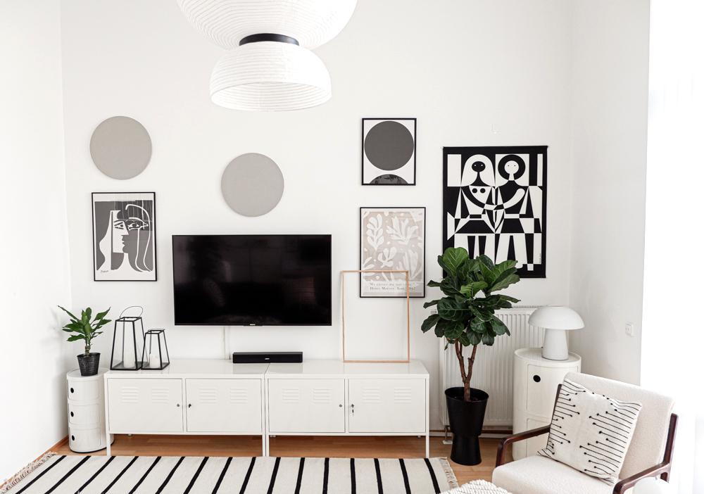 DIY Leinwand Deko im Wohnzimmer
