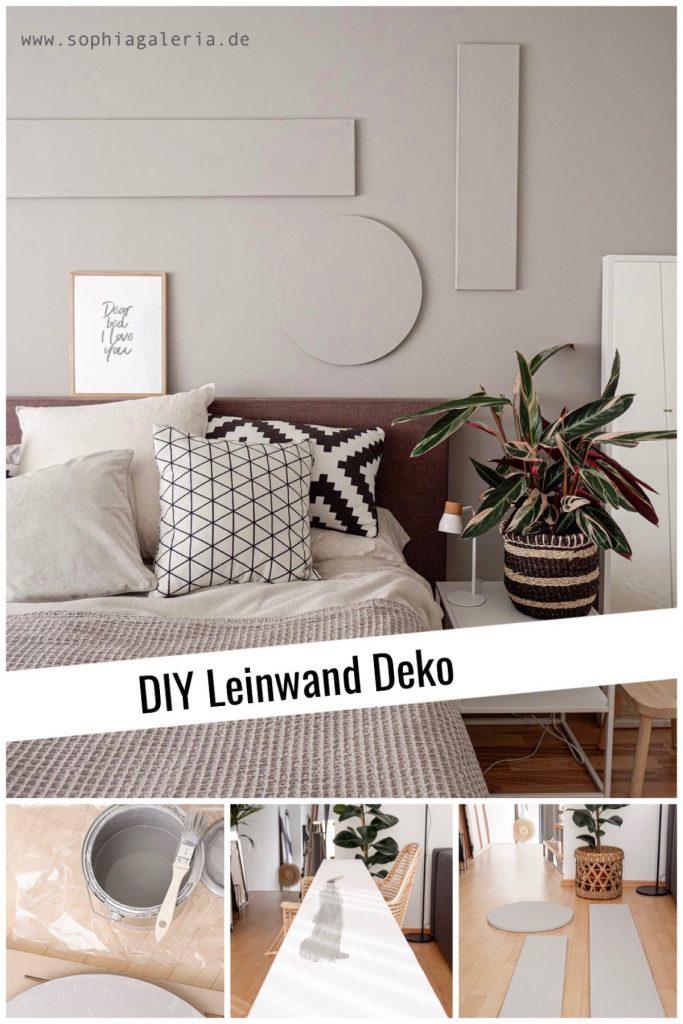 DIY Leinwand Deko