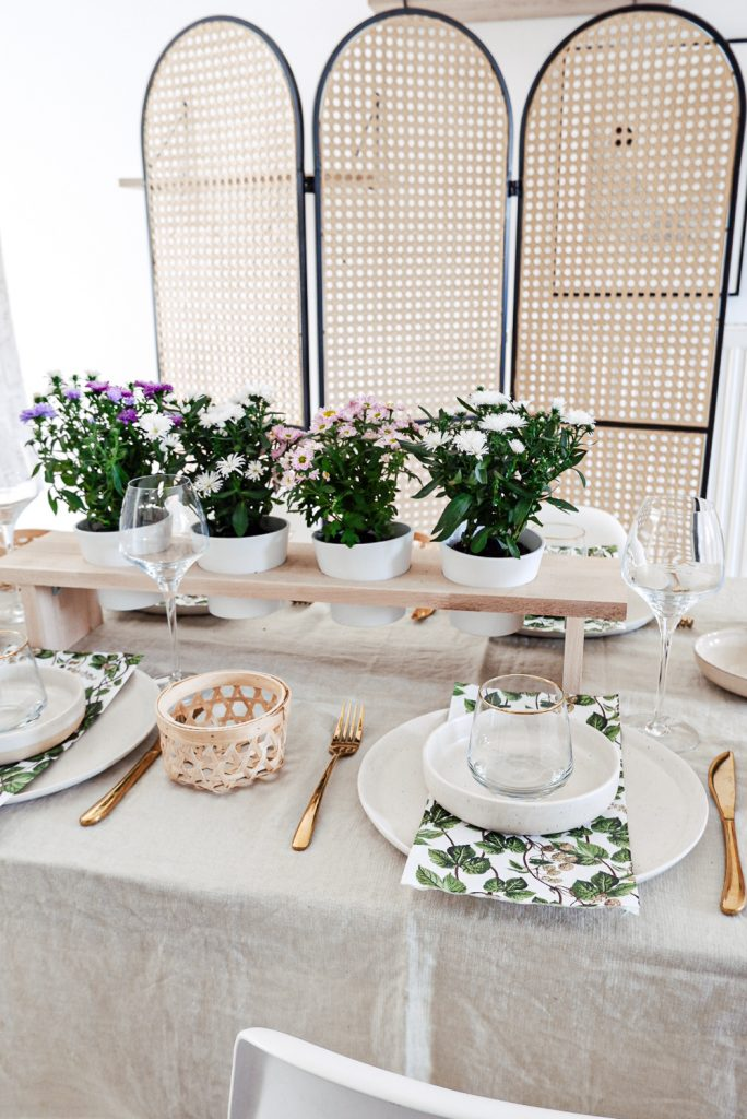 Blumen Tischdeko DIY