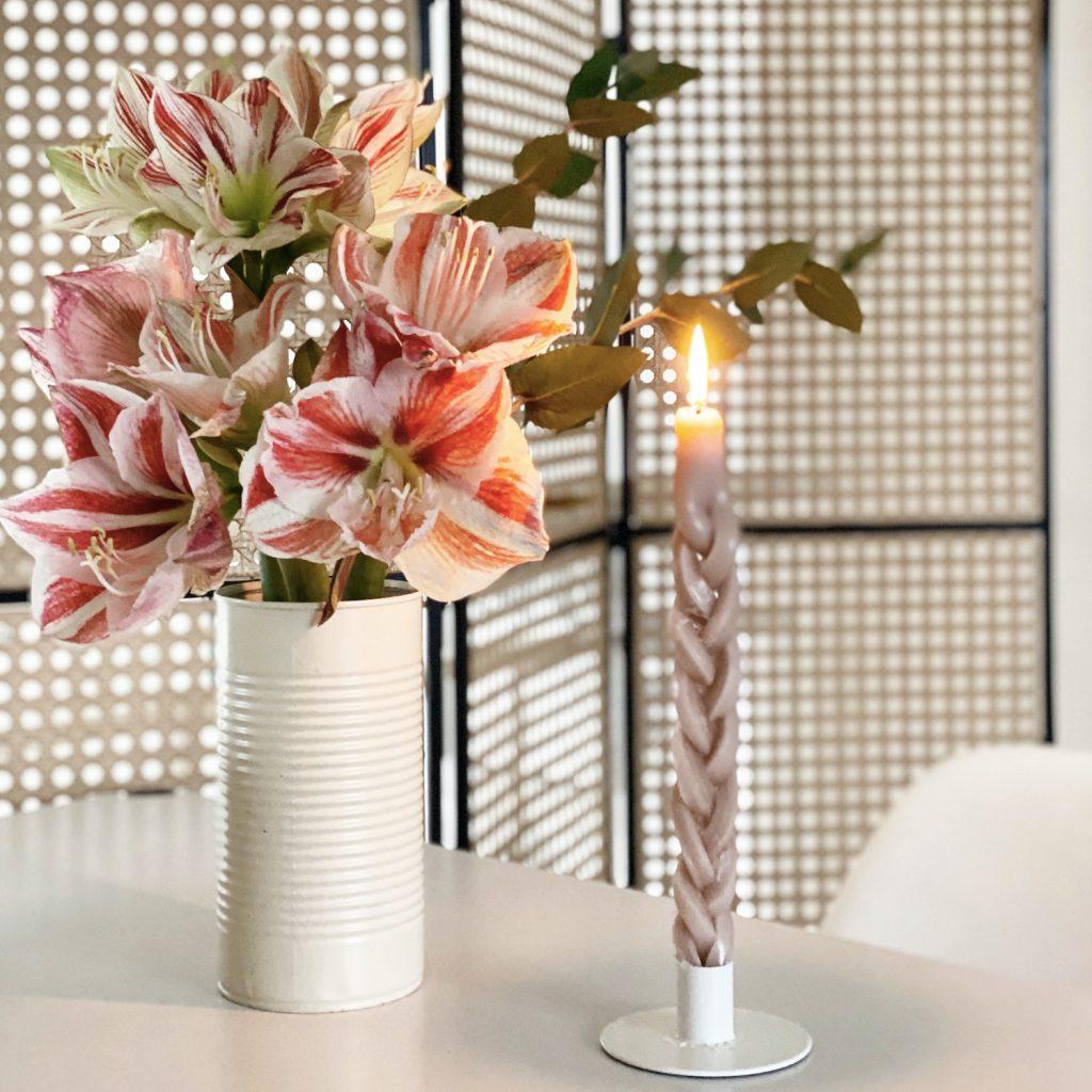 DIY braided candle geflochtene Kerze sophiagaleria