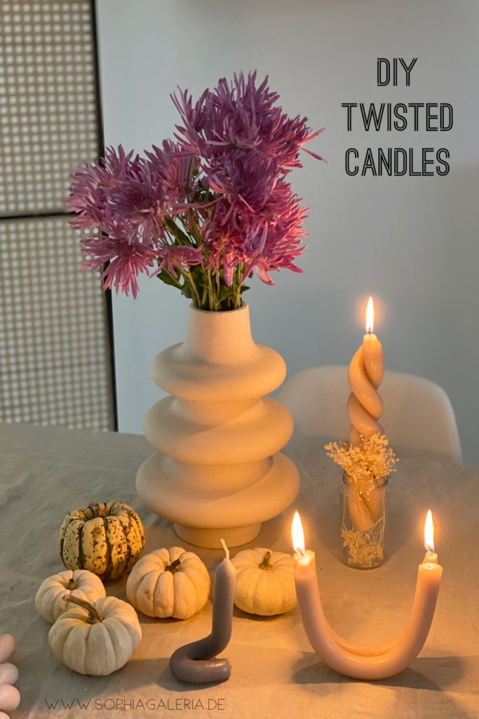 DIY twisted Candles swirl candle gedrehte Kerzen