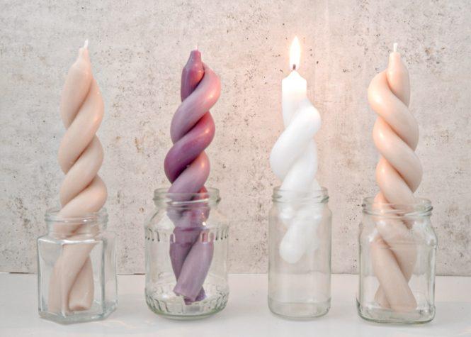 gedrehte DIY Kerzen