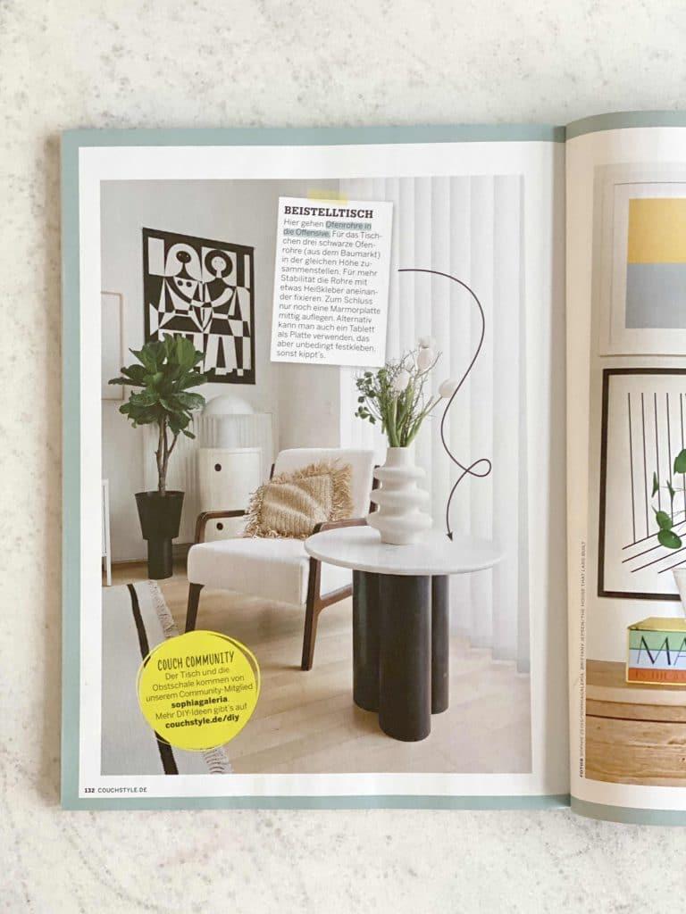 Sophiagaleria im Couch Magazin DIY Tisch