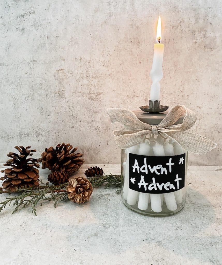 DIY gedrehte Kerzen Adventskalender sophiagaleria