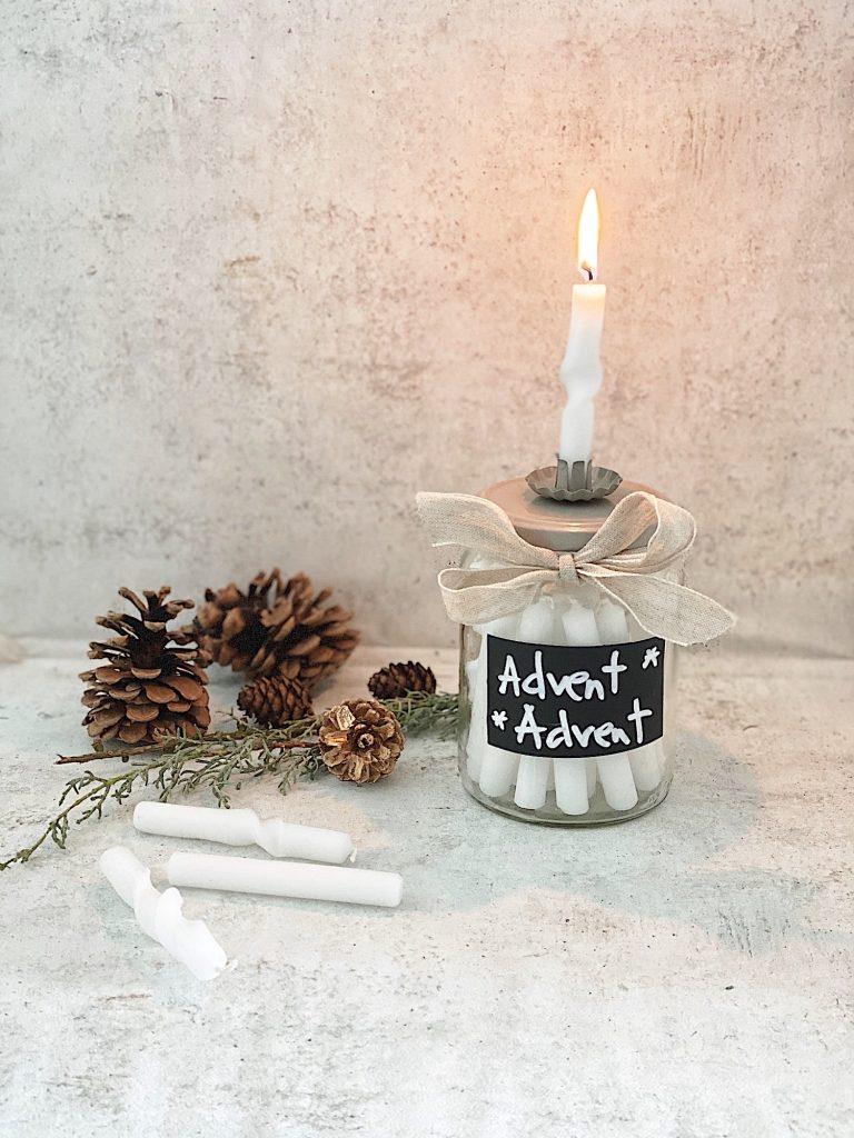 DIY Mini Kerzen Adventskalender im Glas sophiagaleria
