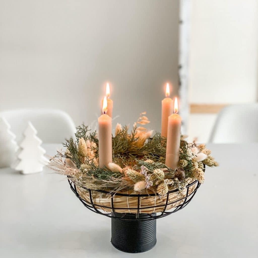 DIY Trockenblumen Adventskranz sophiagaleria
