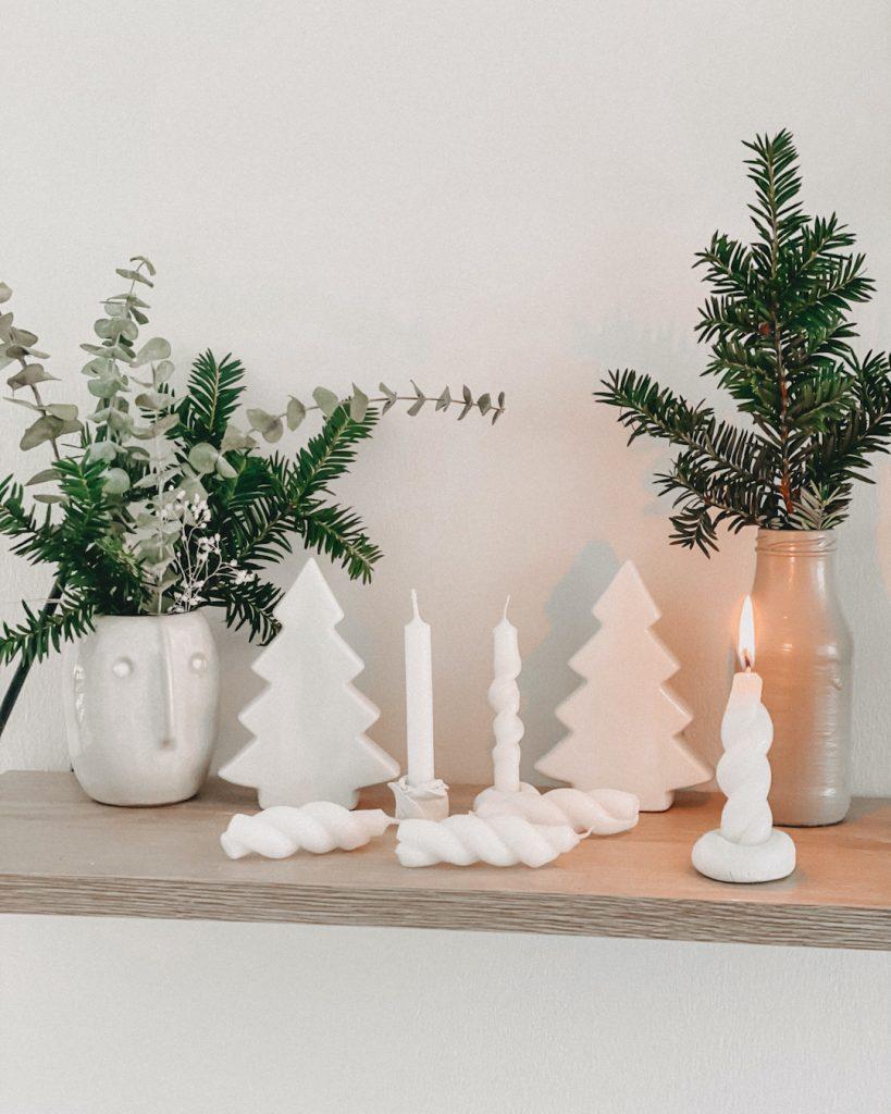 Weihnachtsdeko mit Mini Kerzen gedreht DIY
