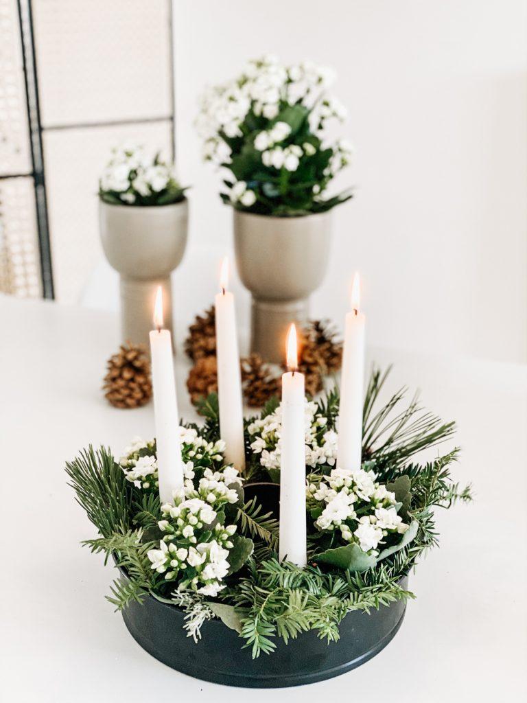 Floraler Adventskranz mit Kalanchoe sophiagaleria