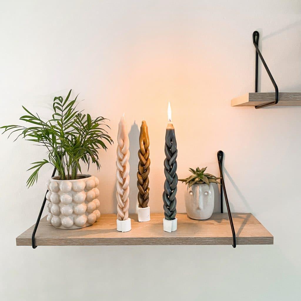 DIY braided candles geflochtene Kerzen sophiagaleria
