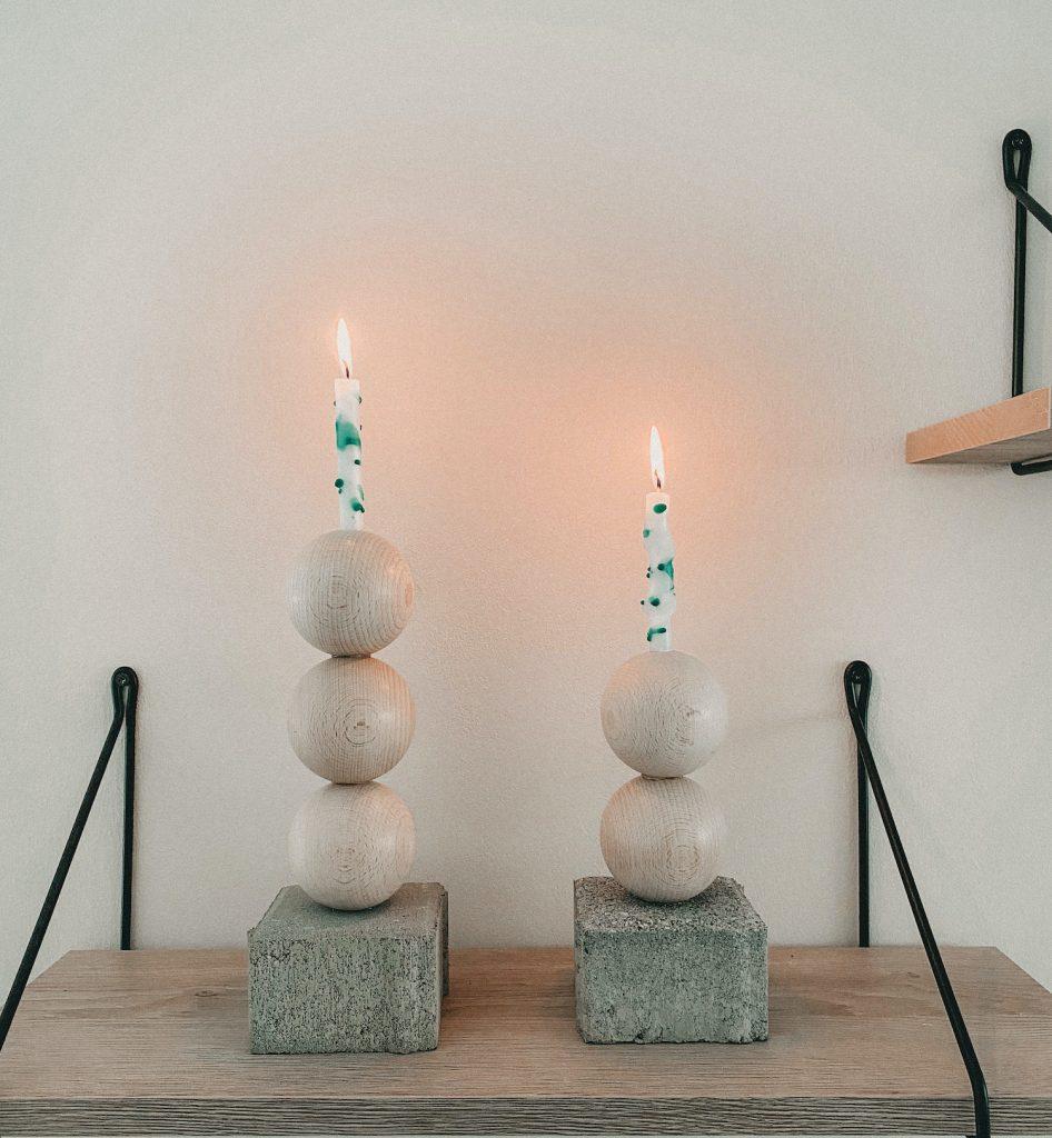 DIY gesprenkelte Kerzen DIY candles sophiagaleria