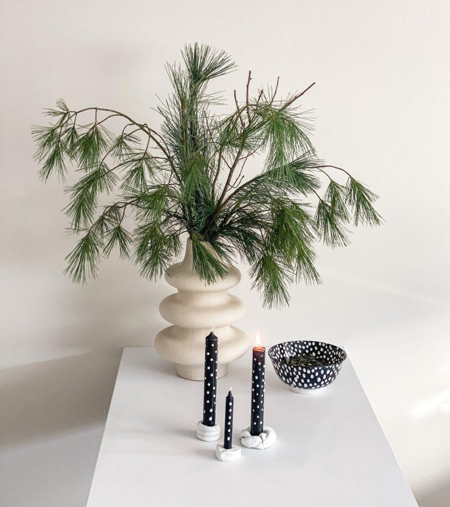 sophiagaleria DIY Punkte Kerzen