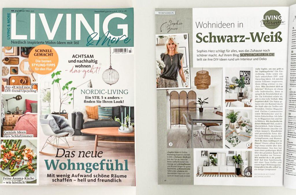 Living and More Wohnzeitschrift sophiagaleria