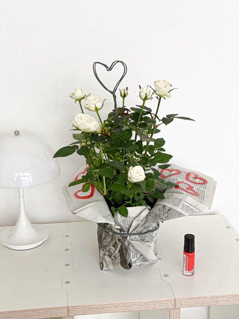 DIY Blumen Herz Topper Sophiagaleria