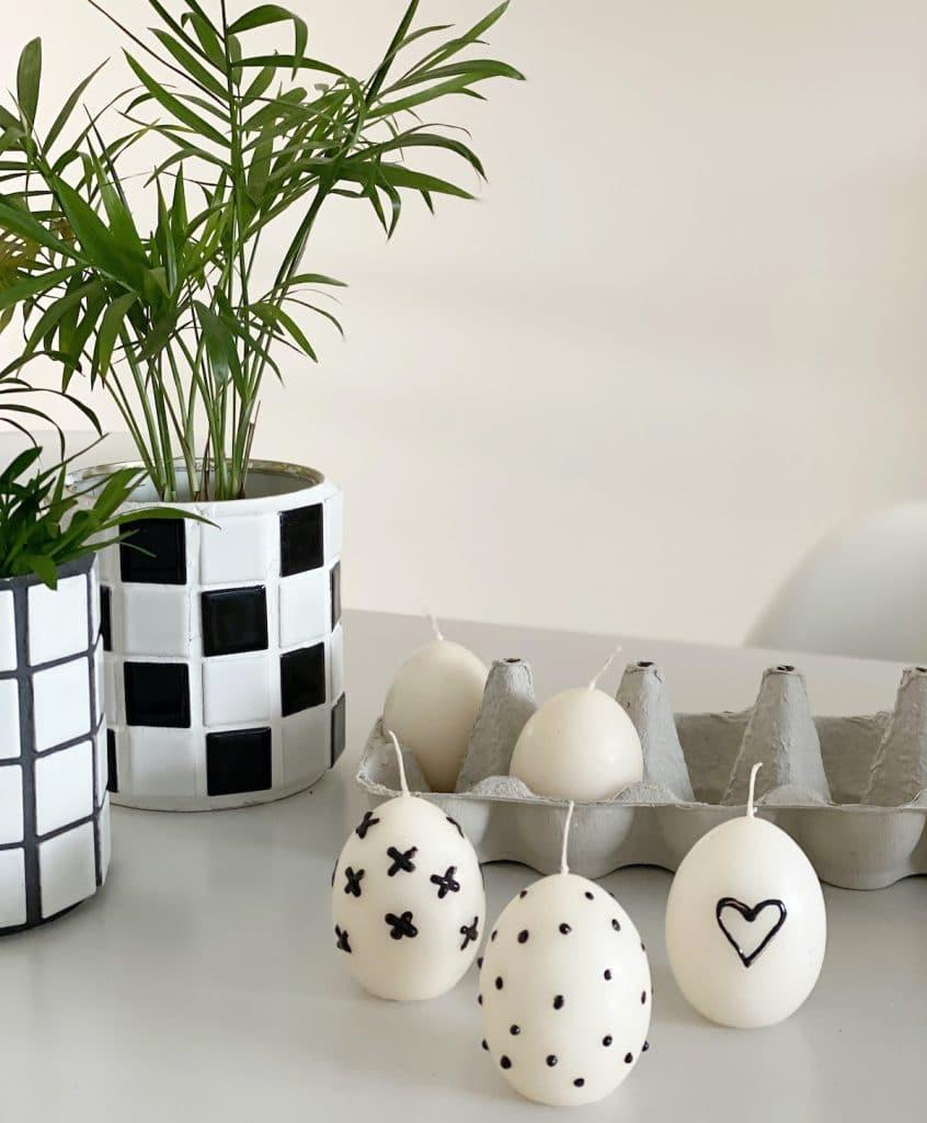 DIY Punkte Kerzen Osterei sophiagaleria