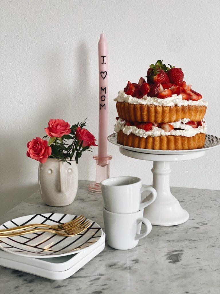 DIY Love Kerzen und Kuchen Muttertag Kuchen sophiaga