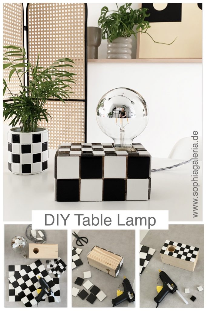 DIY Fliesen Tischlampe sophiagaleria