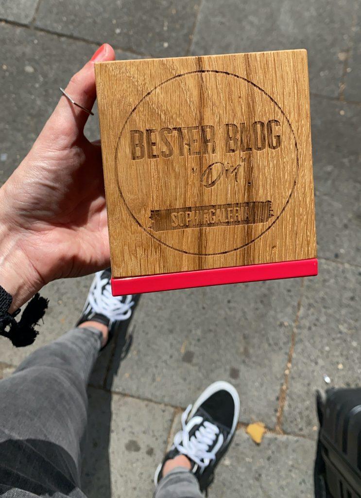 GHBA Award Bester DIY Blog Sophiagaleria