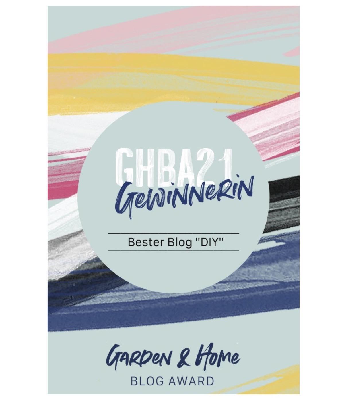 GHBA Gewinner bester Blog DIY Sophiagaleria