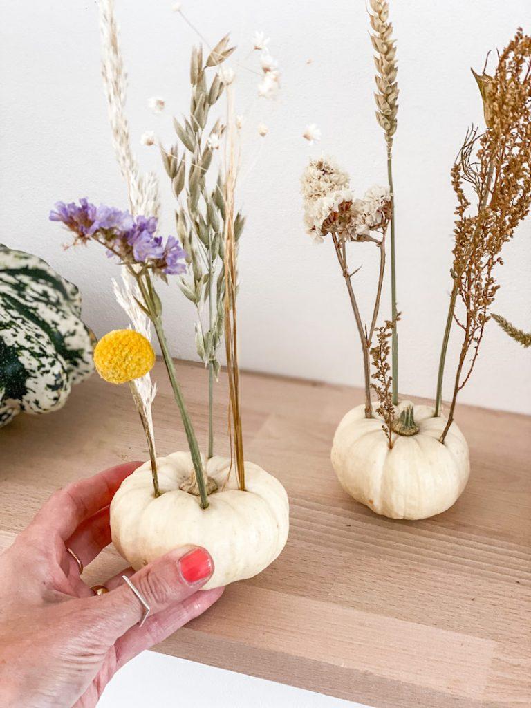 DIY Baby Boo Trockenblumen Herbst Deko sophiagaleria