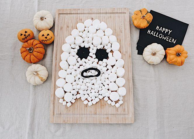 DIY Halloween Geist Snackplatte sophiagaleria